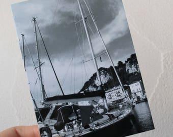 "Postcard ""sailboat"" Nice port"