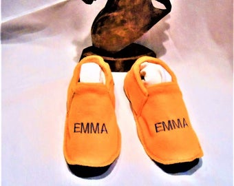 Slippers washable fleece EMMA t 37/39 made 100% in France