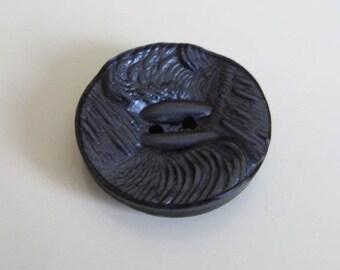 1 acrylic slate blue button 27 mm