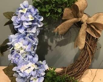 Wreath with Burlap bow