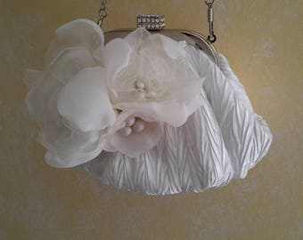 Off white bridal evening bag