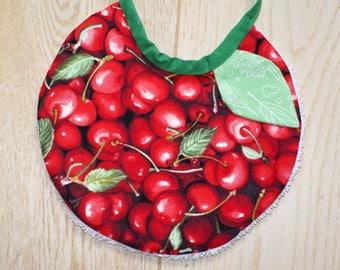 "round bib ""Cherry leaf"""