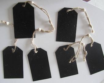 set of 6 rectangular slate with cord and bead