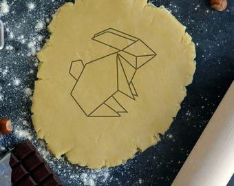 Rabbit 2 Origami cookie cutter