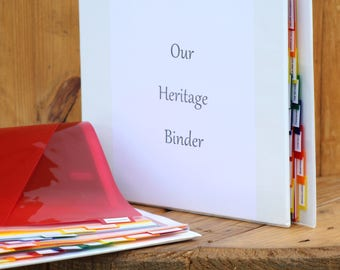 Our Heritage Binder (4 inch)