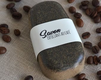 Exfoliating Coffee Soap - Exfoliating soap bar