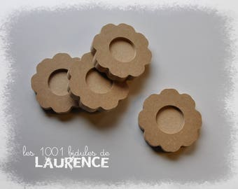 Candle holders in medium, decorating, flower pattern