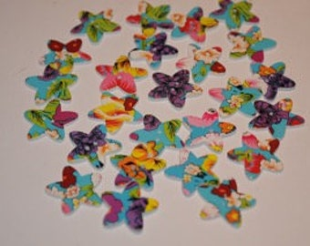 25 buttons star shaped