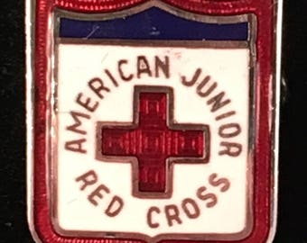Vintage 1940's WWII American Junior Red Cross Lapel Pin
