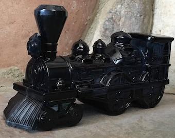Vintage Avon Black Train Engine Cologne Bottle