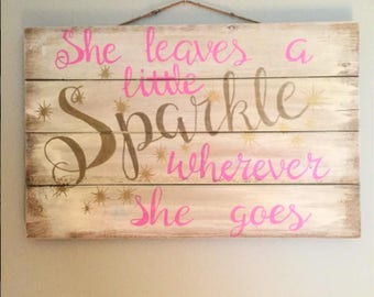 Home decor, babys room, she leaves a little sparkle wherever she goes