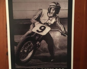 Vintage Gary Nixon reproduction poster