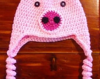 6-12 months pig hat