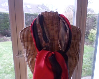 scarf made with a polyester fabric