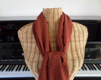 chiffon scarf in shades of Brown and rust