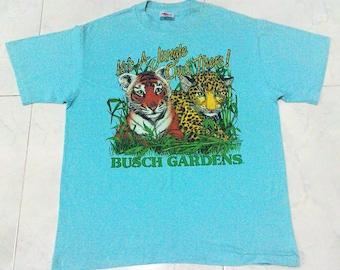 Vintage 80s Busch Gardens T-shirt Made In USA