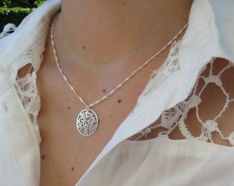 Necklace sterling silver tree of life pendant, 925 Sterling Silver 925