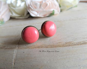 Stud Earring round pink color