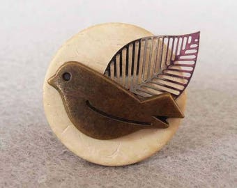 """Bird perch"" ring"
