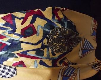 pretty belt tie yellow
