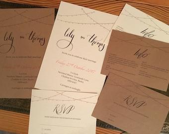 Lights Wedding Invitation set