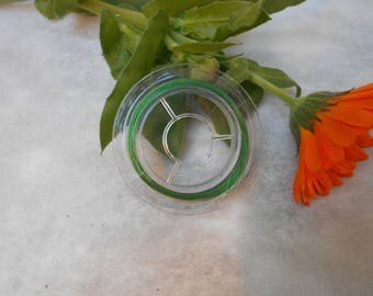 Green 0.38 mm steel wire coil