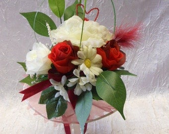 Ivory and Burgundy Bridesmaids Bouquet