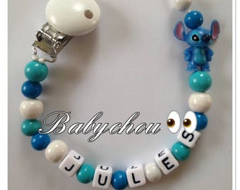 Sweet name stitch with wooden beads