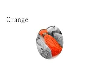 Small Orange tassel 2.5 cm