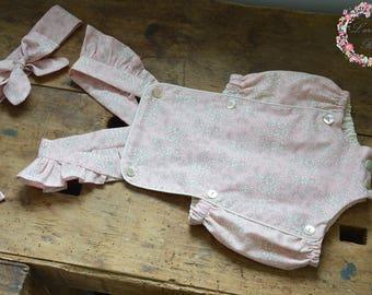 Pink capel liberty romper