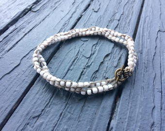 Beaded Macrame Anklet