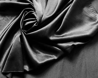 Coupon 4.65 m polyester satin black high quality