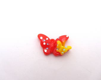 1 red resin with spots Butterfly