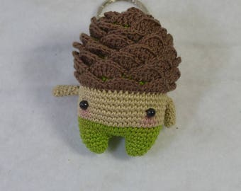 Worn Alain key the pinecone amigurumi cotton