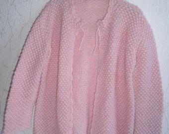 Woman pink wool jacket