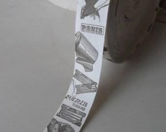 2 metres of Ribbon PARIS VINTAGE 26 mm sewing Studio