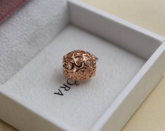 Authentic Pandora Rose GOLD Openwork LOVE Charm 780964
