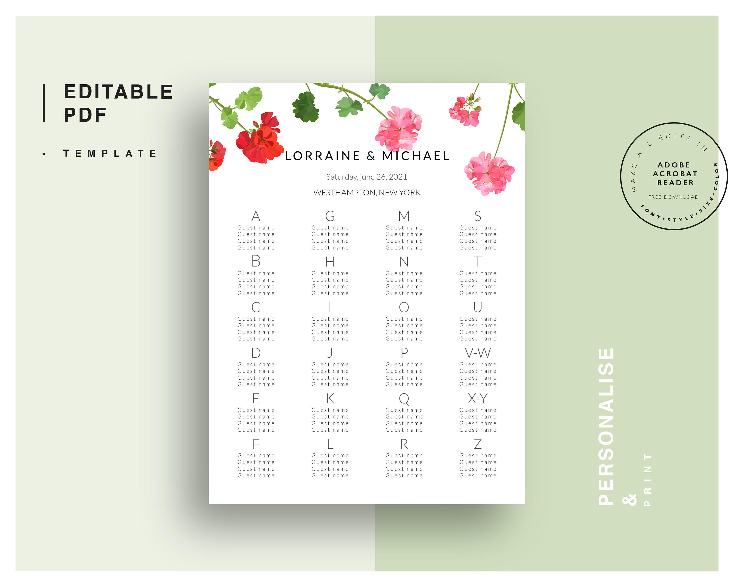 online seating chart template