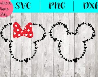 Mickey and Minnie SVG File Bundle-Monogram SVG File-Mickey Svg-Mickey SVG File- Disney Svg File-Disney Monogram Svg File