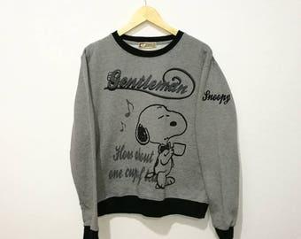 RARE!! Vintage Snoopy Peanuts Sweatshirt Pop Arts Pullover