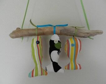 Decorative fish mobile