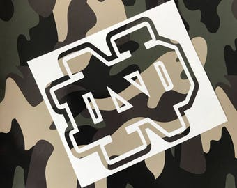 Camo Decal custom print,camouflage decals,gift for men,women who hunt,military gift,army camouflage,woodland camo,sport team decals,hunting