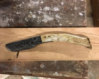 Forged cable knife with Antler Handle