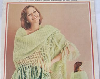 French - February 1975 crochet knitting 32-page knitting booklet