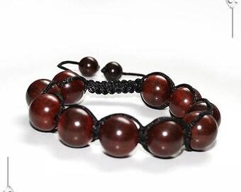 Shamballa bracelet wood