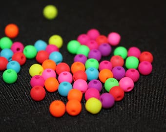 Set of 20 Acrylic beads - 4 mm