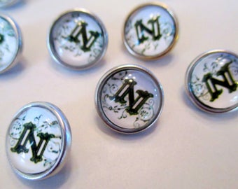 x 1 Snap - button - letter - 12mm pattern choice