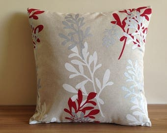 "Printed square pillow cover ""foliage"""