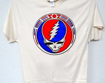 "THE GRATEFUL DEAD,""Red White & Blue Logo""T-ShirtAll Sizes 1067"