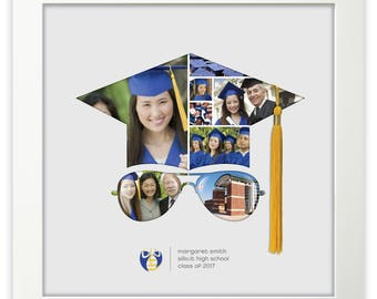 graduate - mortar board - photo collage